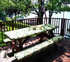 satisfying fitted picnic table covers n8816420 fitted round picnic table covers