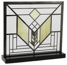 frank lloyd wright lake geneva tulip stained glass craftsman decorative objects and figurines by maclin studio