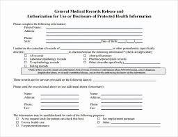 Sample Medical Records Release Form Sample Medical Records Capriartfilmfestival