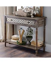 distressed mirrored furniture. Distressed Rustic Mirrored Console Table Furniture