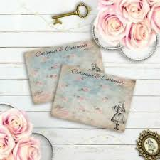 Details About Alice In Wonderland Place Cards Blank Tea Party Wedding Food Buffet Cards