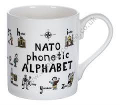Compare ipa phonetic alphabet with merriam webster pronunciation symbols. Bone China Mug Nato Phonetic Alphabet