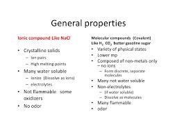 Bonding Comparison Chart Comparison Of Ionic And Covalent Compounds