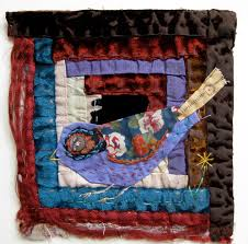 Quilt block #appliqué. thread and thrift Admire her work ... & Thread and Thrift: Birds and old log cabin quilt Mandy Pattullo for NEC  Quilt Show 2013 Adamdwight.com