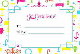 Shopping Spree Gift Certificate Template Template Shopping Spree Certificate Template Latter