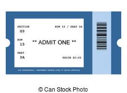 Blank Concert Ticket Template Concert Clipart Event Ticket Graphics Illustrations Free