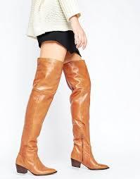 brilliant aldo cognac knee boots leather boots womens deedee western over the
