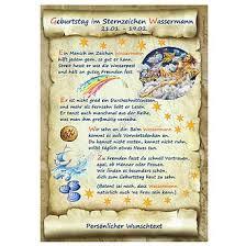 Urkunde Zum Geburtstag Sternzeichen Wassermann Online
