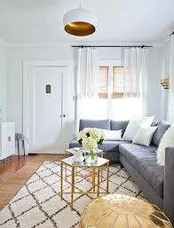 rug for gray couch making the most of a small space with a sectional couch and