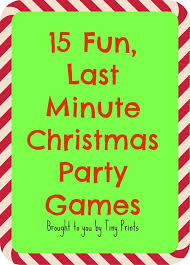 Fun Last Minute Christmas Party Games Christmas Games Fun