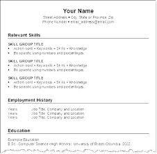 Download Resume For Job Resume Template Job Online Resume Format