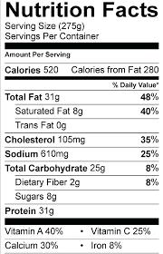 nutrition facts maker ranch turkey melt nutrition facts label maker software