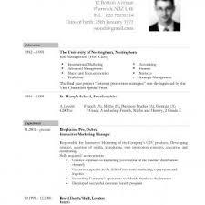 Sample Curriculum Vitae For Job Application Sample Curriculum Vitae For Job Application Pdf Valid 19 Resume