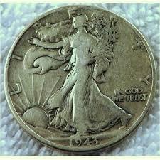 1943 Walking Liberty Half Dollar Silver Coin Silver 900