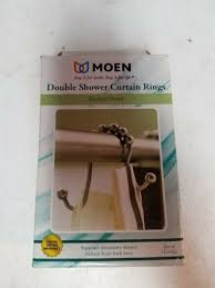 moen brushed nickel double shower curtain rings sr2200bn set of 12 in box for