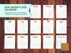 Weight Loss Calendar 18 Best Printable Calendar Weight Loss Calendar 2019 Diet Planner