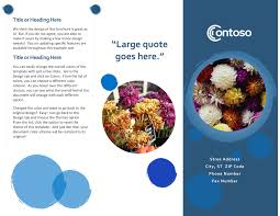 How To Create A Trifold Brochure In Word Brochures Office Com
