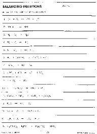 Balancing Equations Worksheet | Workout Sheet | Pinterest | Equation ...
