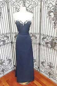 Saison Blanche Size Chart 1085s Saison Blanche 2280 Sz 12 253 Navy Formal Bridesmaid Party Gown Dress Ebay