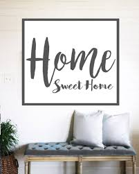 home sweet home farmhouse sign rustic wall decor walls of wisdom
