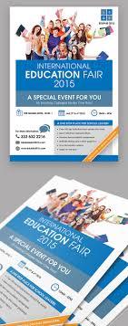 education fair event flyer on behance