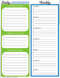 Daily Chores Checklist 31 Days Of Home Management Binder Printables Day 4 Daily And