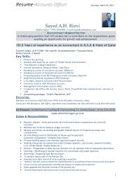Accounting Officer Sample Resume Adorable Resume Format Mba 44 Year Experience