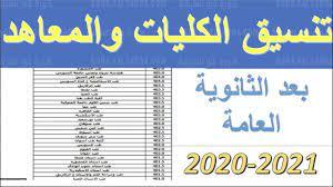 عاجل.. رابط إعلان نتيجة تنسيق المرحلة الأولى للجامعات 2021 وهنا الحد الأدنى  للقبول في الكليات - كورة في العارضة