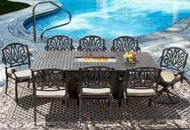 eli 42x84 rectangle outdoor patio 9pc