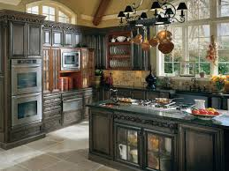 french country kitchen. stunning hardwood furnishing for french country kitchen interior with ample window presenting outside view i
