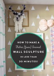 Fabric Animal Wall Sculpture | MountainModernLife.com