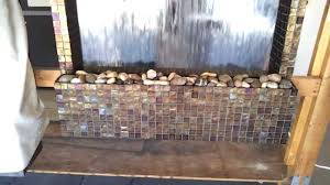 custom wall fountain wsmall glass tiles you diy stone wall