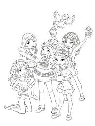 Lego Friends Coloring Page Free Download