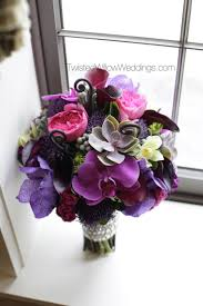 Purples, Pinks and Green Bouquet; Succulents, Orchids