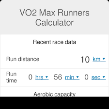 Marathon Pace Predictor Chart Vo2 Max Runners Calculator Vo2 Max Calculator Omni