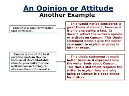 a road map for your essay ppt video online  an opinion or attitude another example