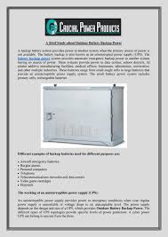 Uninterruptible Power Supply Design A Brief Study About Outdoor Battery Backup Power By Digital