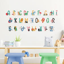alphabet wall stickers for easy phonics
