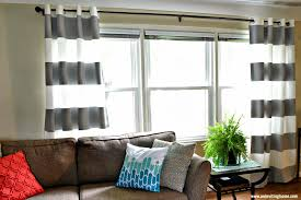 Diy Striped Curtains Crafthubs