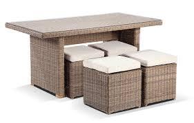wicker coffee table ottoman round half dining rattan half round wicker dining coffee table with 4 stowaway