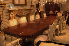 foot dining table room  foot regency style triple pedestal dining table