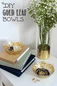 diy gold leaf bowls video tutorial