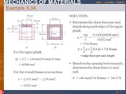 shear force example. 1 example 6.04 solution: determine the shear force