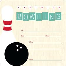 Bowling Party Invitation Template Jaxos Co