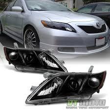 Black 2007 2008 2009 Toyota Camry Headlights Headlamps Sets Left+ ...
