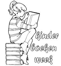 Boekenweek Kleurplaten Boek Lezen