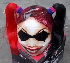 cute girls motorcycle custom helmet harley quinn ponytails
