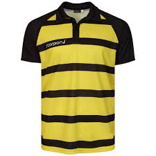 yellow black sublimation polo shirts