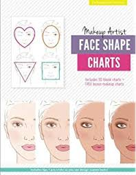 Face Shape Chart Makeup Face Charts The Blank Workbook Paper Practice Face