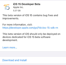 How to get the iOS 15 and iPadOS 15 beta